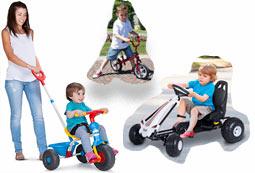 Adquirir otros vehículos infantiles más económicos como triciclos , coches con pedales , bicicletas sin pedales en oferta para niño o niña